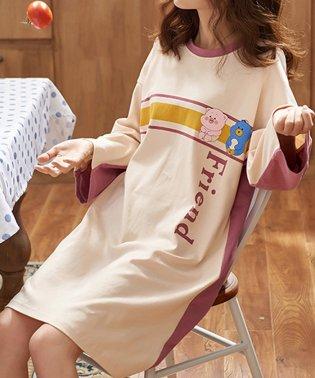 ワンピース パジャマ レディース ゆったり ルームウェア 部屋着 寝巻き ワンピース 長袖