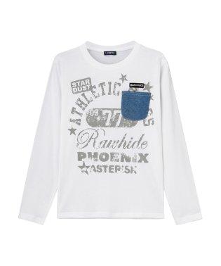T-GRAPHICS ティーグラフィックス ボーイズ ポケット付きロングスリーブTシャツ MH/TG795B