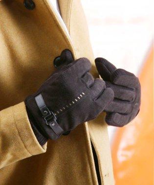 フェイクスエードグローブ / 手袋 メンズ 防寒 スマホ対応 スマートフォン対応 防風