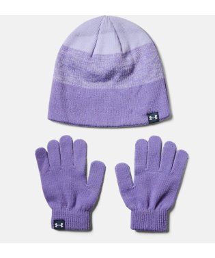 アンダーアーマー/キッズ/19F UA GIRLS BEANIE GLOVE COMBO
