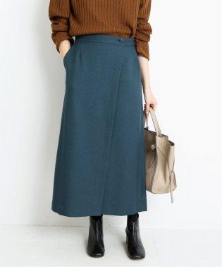 ラップ風ロングスリットスカート