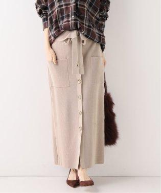フロントボタン ニットタイトスカート
