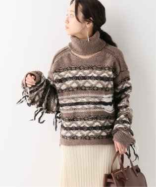 【JANE SMITH/ジェーンスミス】 FAIR ISLE HIGH NECK ニット