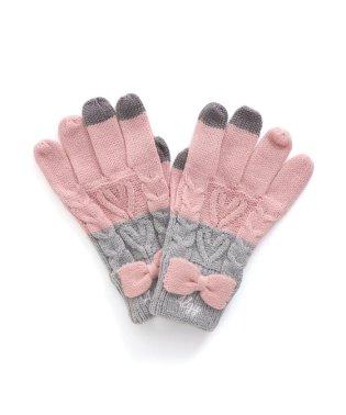 バイカラースマホ対応手袋