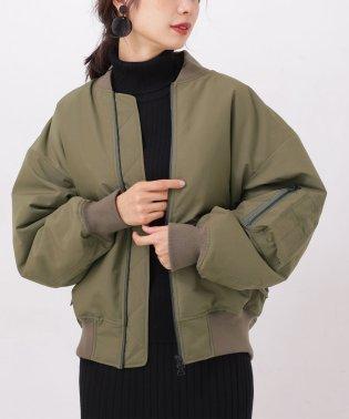 【WEB限定】保温中綿オーバーサイズブルゾンコート
