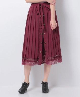 フロント釦プリーツスカート