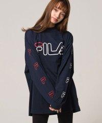 FILA【フィラ】袖プリントクルーネック長袖Tシャツ