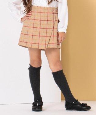 【ひなちゃん着用/110-140cm】ウールチェックキュロット
