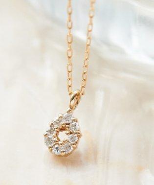 【K10】ドロップパヴェダイヤモンドネックレス