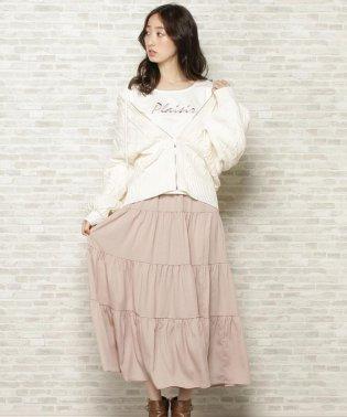 【数量限定】ラテパーカー+ロゴTシャツ+ティアードスカートSET