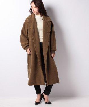 【MidiUmi】sliver knit P coat