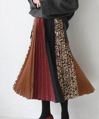 異素材8枚はぎデザインスカート