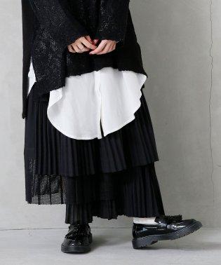 『somari贅沢プリーツティアードスカート』