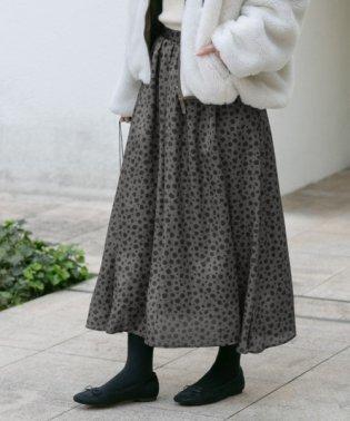 【予約】レオパードギャザースカート