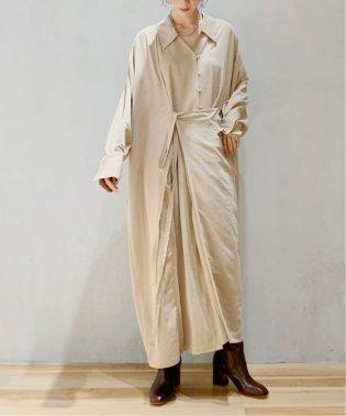 【Yurina Kawaguchi】 CHINE WRAP DRESS