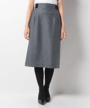 ウール混ミモレ丈スカート