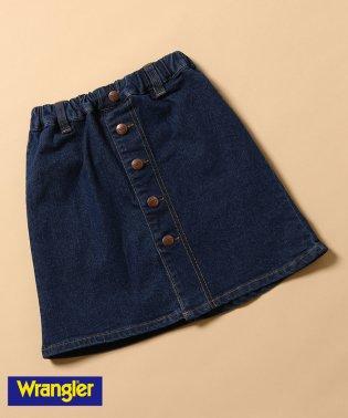 【WRANGLER×ROPE' PICNIC KIDS】フロント釦デニムスカート