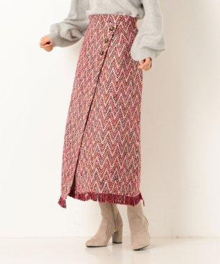 ツイードラップ風スカート