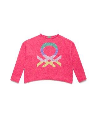 マルチカラーロゴニット・セーター