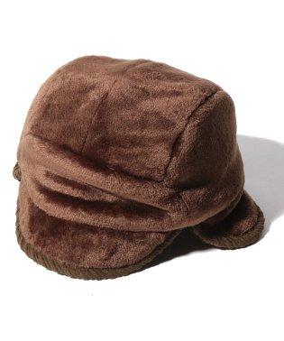 モコモコ耳付き帽