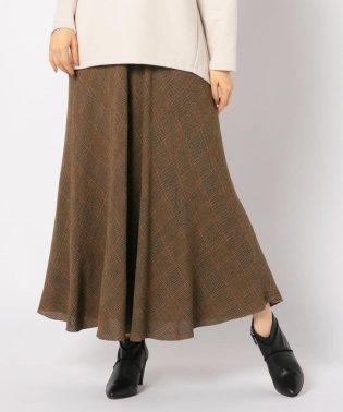 ウール混ボイルマキシスカート