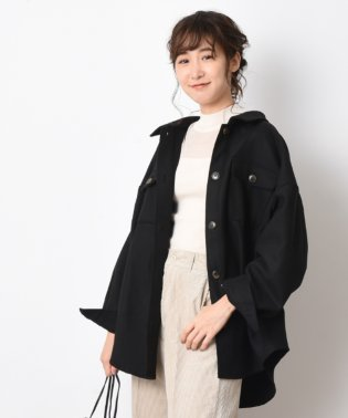 【WEB限定】フェイクウールメルトンゆるシャツジャケット
