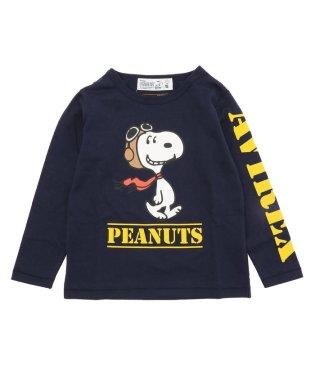 【KID'S/キッズ】×ピーナッツ スヌーピー ロングスリーヴ Tシャツ/ AVIREX×PEANUTS L/S T-SHIRT
