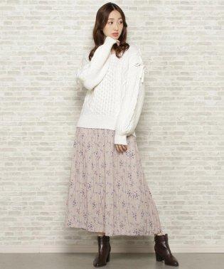 【WEB限定】IVYフラワープリーツスカート