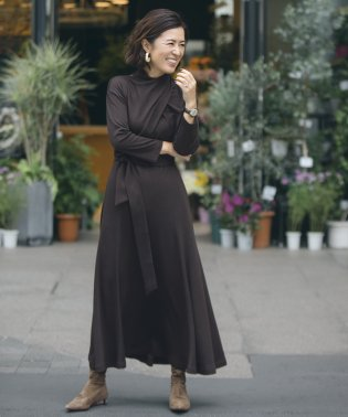 【Naoko Okusa × ROPE'】スムースドレープドレス