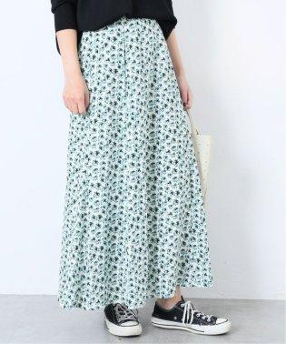 《予約》フラワープリントフレアスカート◆