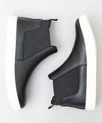 【glabella/グラベラ】PUレザーサイドゴアスニーカーブーツ