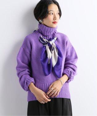 【JEJIA/ジェジア】スカーフドッキングタートルニット