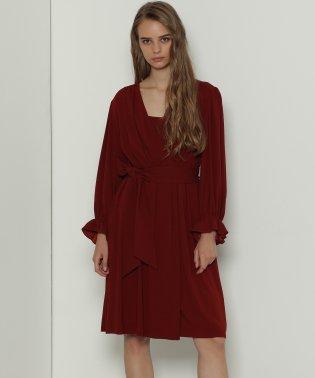 トリアセドレープドレス