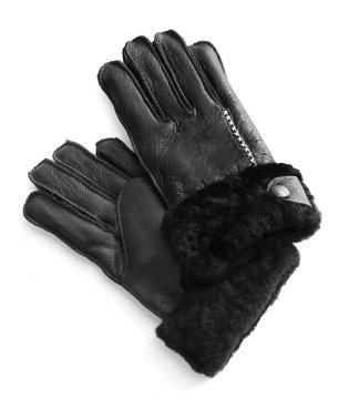 ムートンレザー手袋