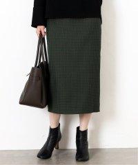 ブロックチェックタイトスカート