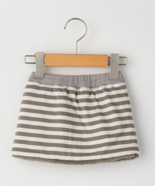 SHIPS KIDS:ボーダー×ボア リバーシブル スカート(80~90cm)