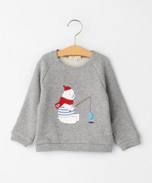 SHIPS KIDS:冬のシロクマさんスウェット(80~90cm)