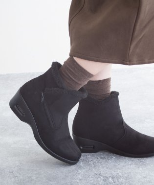 エアーソール暖かファーショートブーツ