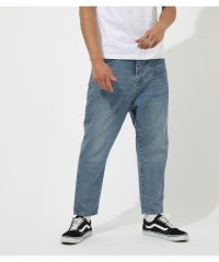 DENIM TAPERED PANTS