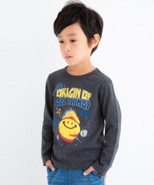 天竺eくんスペースプリントTシャツ