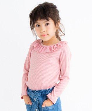 トタンテレコ襟フリルTシャツ