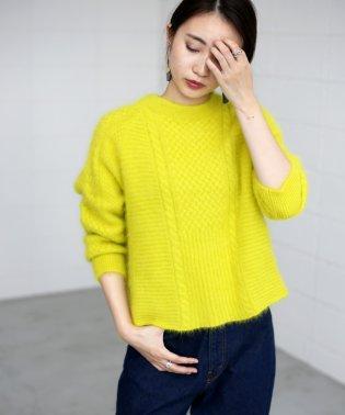 ◆アンゴラ×ケーブル編みでふんわり◆アンゴラニットプルオーバー