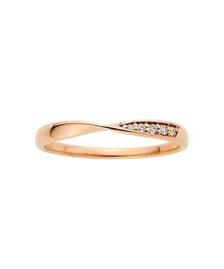 K18ピンクゴールド、ダイヤモンドリング