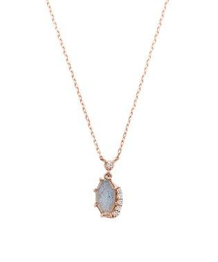 K10PG ダイヤモンド0.020 CT  フェルスパー ネックレス