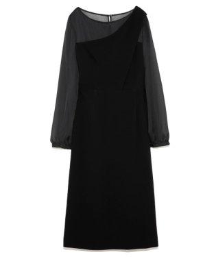 ワンショルダーデザインドレス