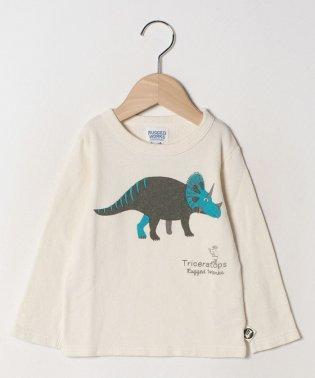 ミニ裏毛配色恐竜PTロングTEE