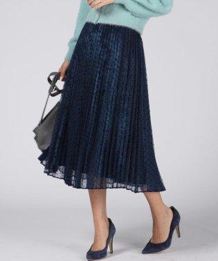 ベロア×オーガンジープリーツスカート