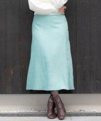 【大きいサイズ】ドットボタンスエードタッチスカート