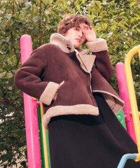 【Willful by lipstar】スエード裏ボアボンバージャケット