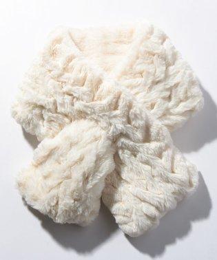 三つ編みファーティペット